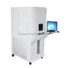 Máquina da marcação do laser da fibra do standard de 20W Europa com estrutura fechada cheia