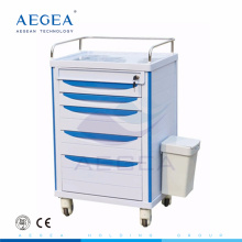 AG-MT006 Hospital ABS material nurse utility movable medicine trolley cart