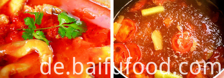 Tomato hot pot bottom material