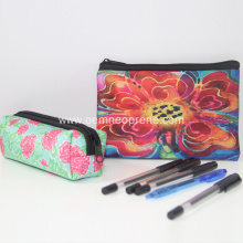 Custom Printed Plain Neoprene Zipper Pencil Case