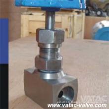 Ss316 / Ss304 Levier de valve à aiguille Fnptxmnpt 6000 Psi