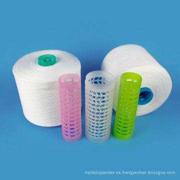 Hilado hecho girar 100 del hilado de costura del poliéster del 100 PCT Hilo del hilado de polyester