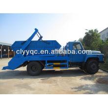 Dongfeng рукав контейнера мусоровоз, 6cbm мощность
