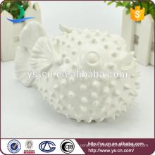 wholesale white fish decoration, cute unique ornament for home