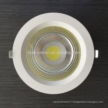 20W 30W 40W 50W COB LED Downlight avec certification CE et RoHS