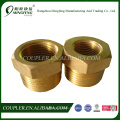 Brass valve hydraulic hose fitting