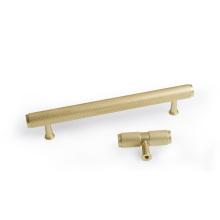 Perillas de gabinete moleteadas doradas Manijas de cocina Perilla de extracción de cajones Herrajes para puertas de muebles Manija de tocador de armario