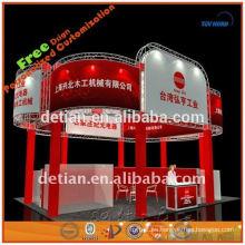 3x3 diseño gráfico sistema de feria a medida con mesa plegable en Shanghai
