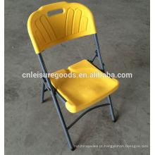 Cadeira de dobramento plástica barata de aço HDPE