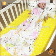 Cremallera sin mangas bebé swaddle 100% algodón bebé swaddle prevenir edredón
