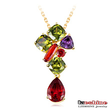 Mona Lisa Multicolor Zircon Stone Pendant for Women (CNL0012-C)