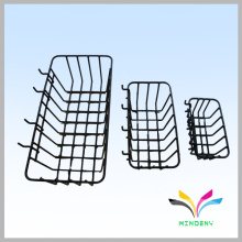 Wire display floor stand basket supermarket rack