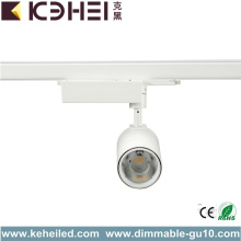 LED White Track Lights Inomhusbelysning 3 Wire