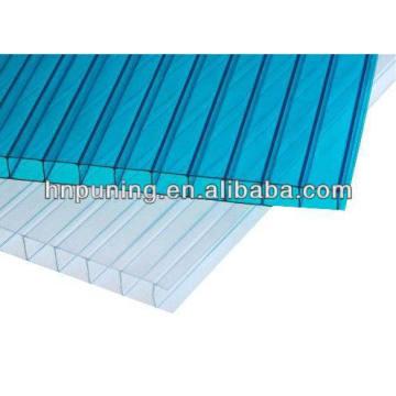 Polycarbonat-Harz Neubau Material Zwillingswand gefärbte Polycarbonat-Platte für Dächer Skylight Markise