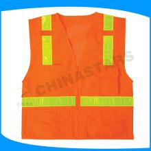 Diseño popular chaleco reflectante trabajo y desgaste de seguridad