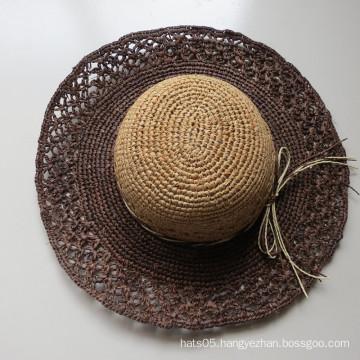 Leisure Crochet Paper Hat for Women