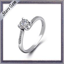 Joyería de anillo de plata de zirconia cúbica de alta calidad
