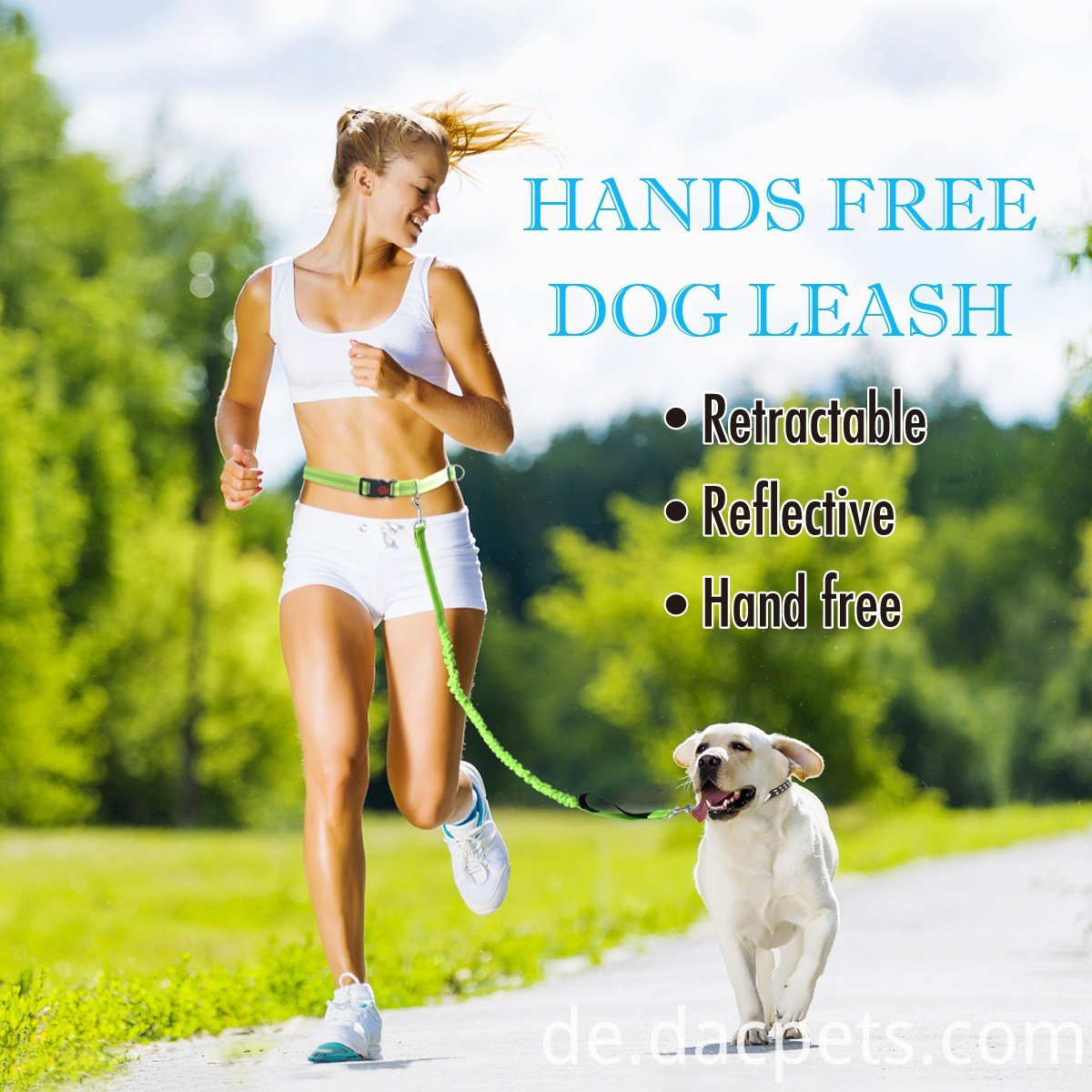 Hands-Free Reflective Dog Leash