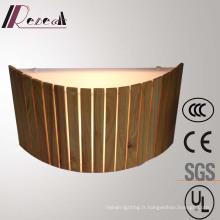 Lampe de mur semi-décorative en bois de chêne naturel décoratif moderne de Restuarant