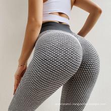 Custom logo slimming high waist mesh yoga leggings women with scrunch butt