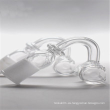 Rectángulo de cuarzo Banger para tabaco con 14 mm macho / hembra (ES-QZ-025)