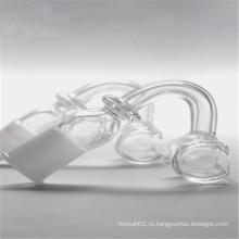 Прямоугольный кварцевый фланец для табака с 14-миллиметровым наружным / женским швом (ES-QZ-025)