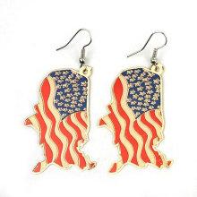 2013 neuer Entwurf USA-Markierungsfahnen-Ohrring-Schmucksache-hängender Ohrring FE03