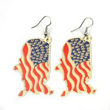 2013 New Design USA Flag Earring Jewelry Pendant Earring FE03