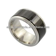 Hochwertige schwarze keramische Ring-Edelstahlring Männer Schmucksacheart und weiseschmucksachen