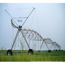 Equipo de riego de acero galvanizado de ruedas / sistema de riego de energía solar