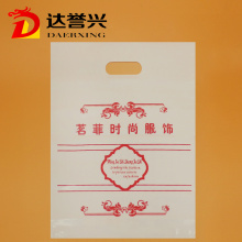 White and Red HDPE Die Cut Bag for Garment