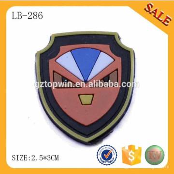 LB286 Bulk Cheap 3D Logo Silicona ropa etiqueta de goma transparente para zapatos / bolsas / Ropa