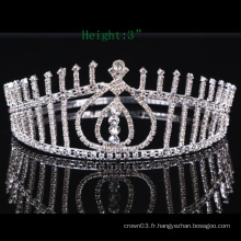 Pierre claire Crown Rhinestone Tiara Crystal Girls Crowns