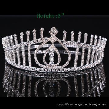 Piedra clara Corona Cristal Tiara Cristal Coronas de niñas