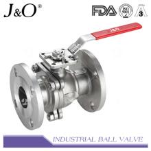 Válvula de bola de 2 pines con brida con soporte de montaje directo BS 150 lbs