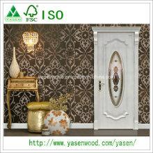Ovolo Sticking Solid Wood Door Chine Portes en bois massif sculpté