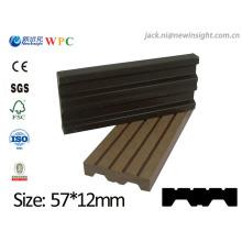 57 * 13mm nouvelle planche en bois composite en plastique de WPC