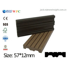 57*13mm New Tech Wood Plastic Composite WPC Plank