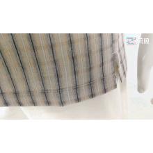 Blusa masculina de linho rayon camisas xadrez mangas curtas