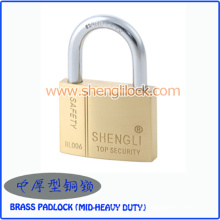 Top Security MID-Heavy Duty Solid Brass Padlock