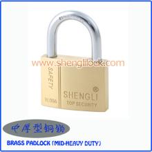 Cadeado de latão maciço de segurança pesada MID-Heavy Duty