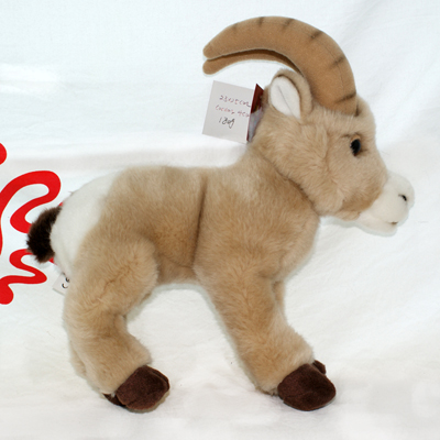 stuffed cartoon goat