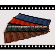 JCX 0.4mm color steel stone coated roof tile machine