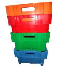 Recipiente de inserção retrofletido para transporte de frutas / recipiente de inserção de plástico