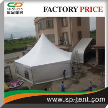 Hexagon pagoda outdoor event tent 4x8m with white lining and curtains