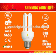 HOT! T4 3U 15W E27 ENERGY SAVING LIGHT 10000H CE QUALITY CFL