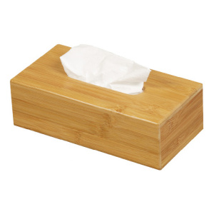 Popular disposable bamboo tissue box wooden napkin holder