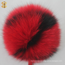 Multi Color Fox Fur Pom Poms Letter Pompom Alphabet Fox Fur Keychain