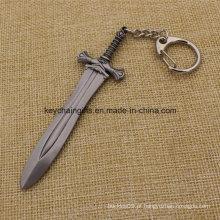 Final Fantasy Miniaturas Armas Metal Espada Keychain Anel Pingentes