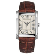 Унисекс Кожаный ремешок часы, Оригинальные теленок кожаный из нержавеющей стали 316, тонкой нержавеющей Пряжка